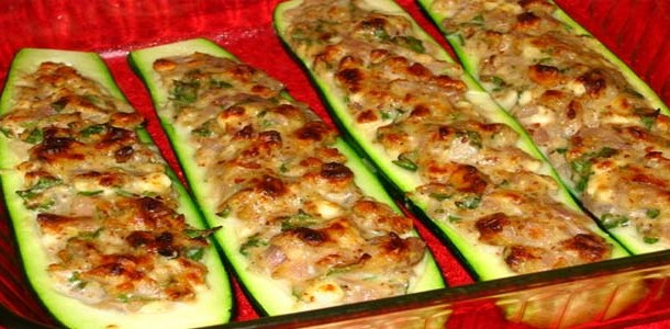 запеченные кабачки с фаршем в духовке рецепт с фото