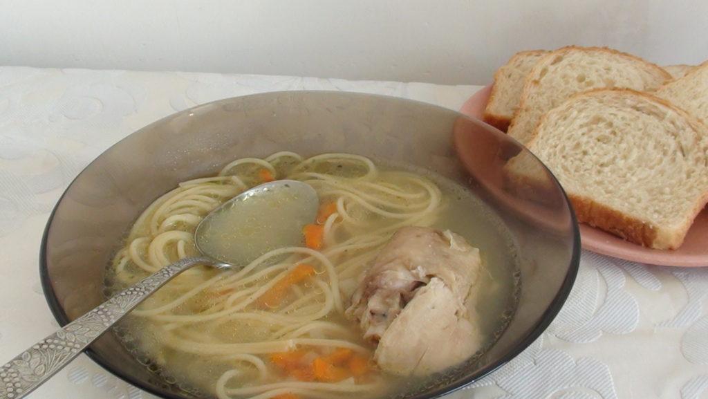 Домашняя лапша с курицей рецепт теста с пошагово