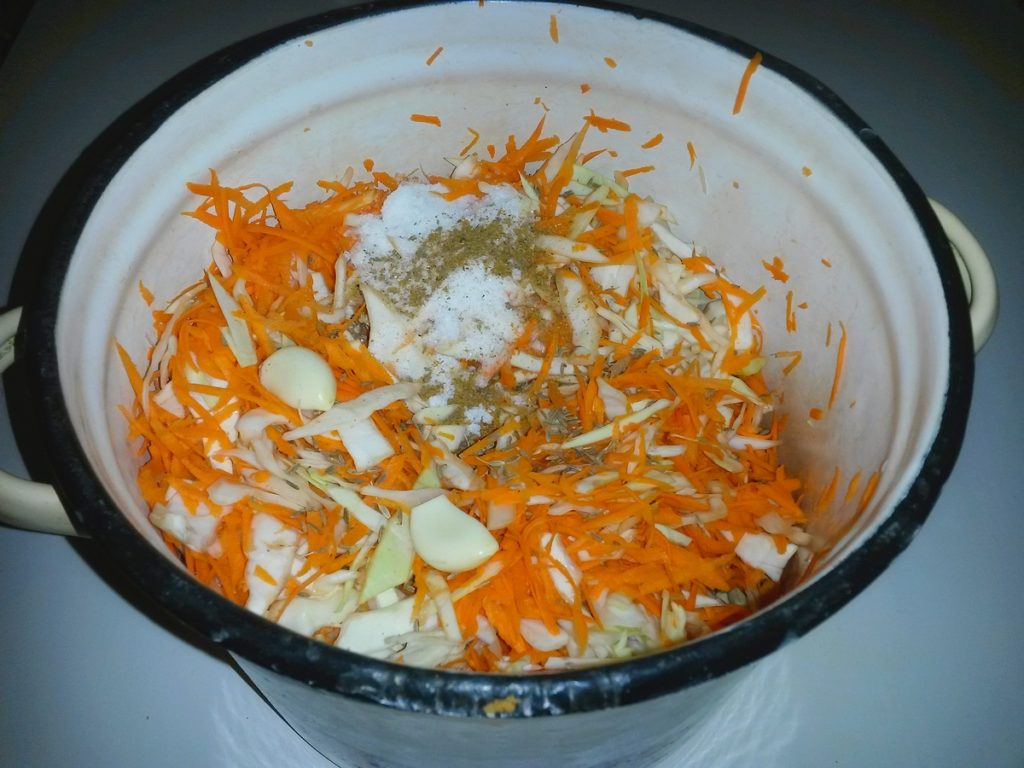 Диетическая квашеная капуста рецепт