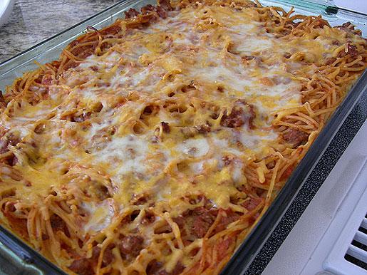 Запеканка с фаршем и макаронами в духовке рецепт