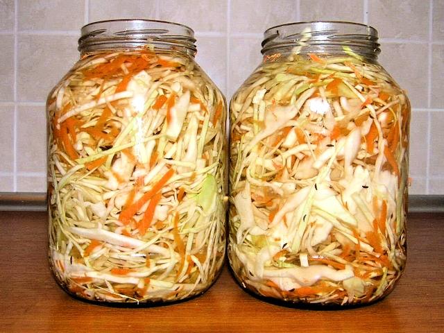 Квашеная капуста кусочками рецепт на 3 литровую банку